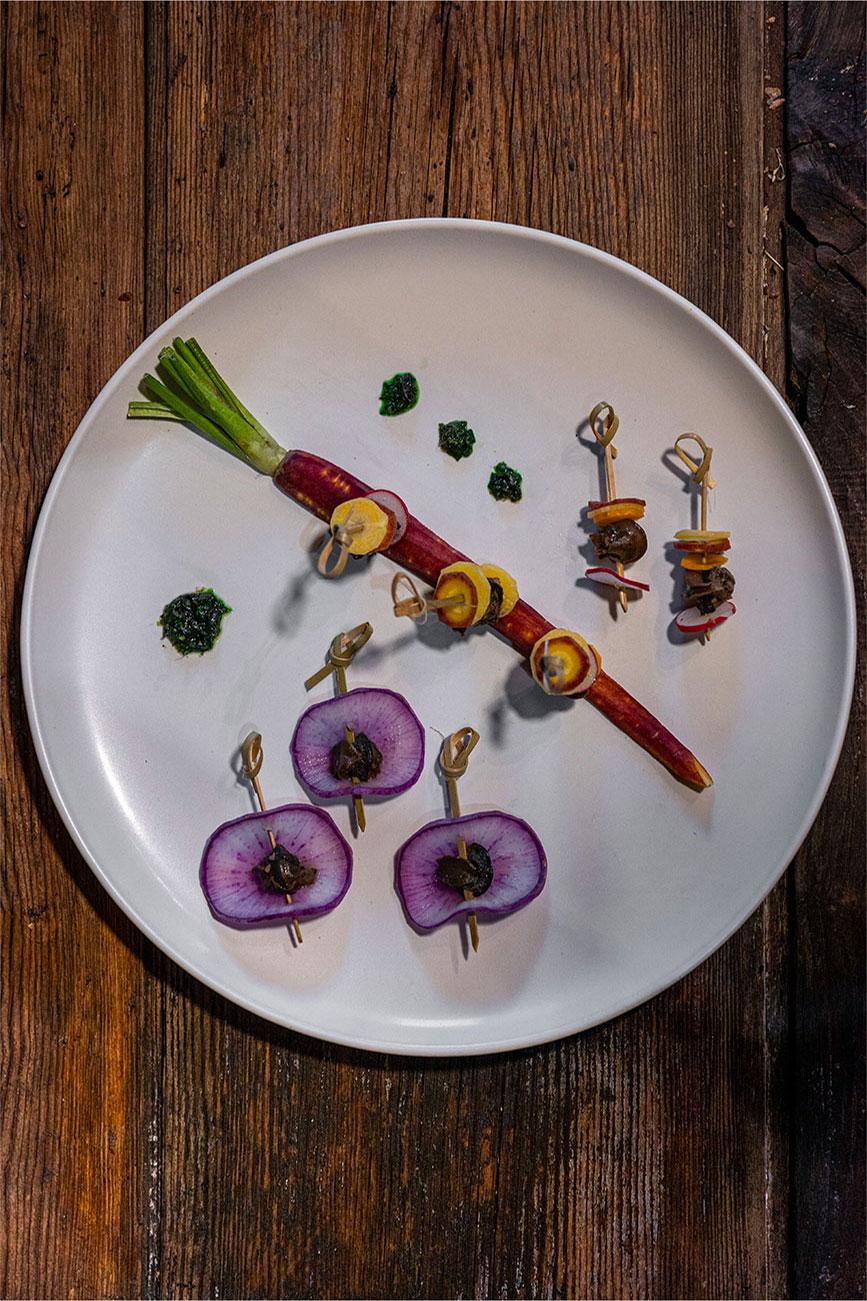 Escargots en mode brochette